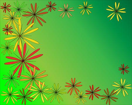 ornamentation: colorful flower ornamentation, background,