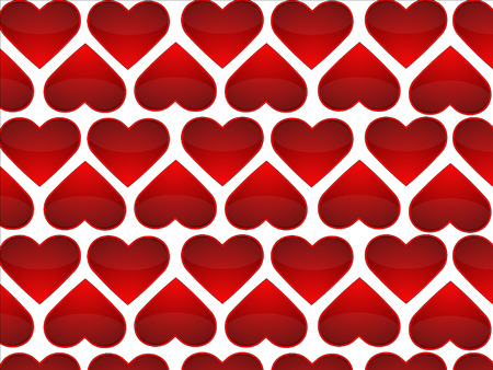 fellings: group of red hearts as a background