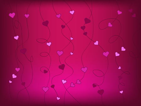 pink heart: heart vector abstract background illustration Stock Photo