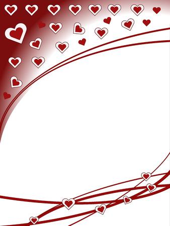 adorn: coraz�n rojo ilustraci�n vectorial