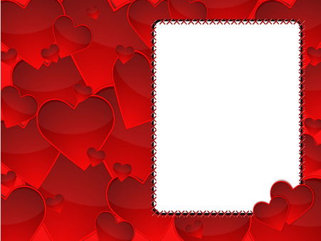 group of red hearts illustration background Vector