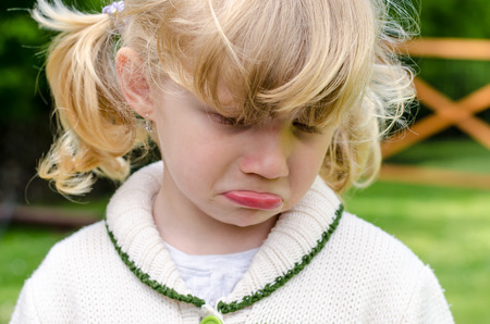 dissapointed: unhappy crying beautiful blond girl