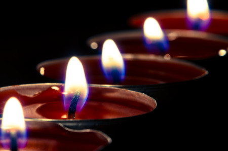 red burning candles photo