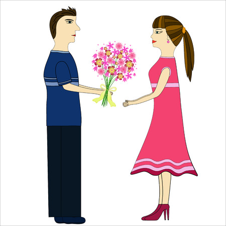 young relationship: girl and boy in love