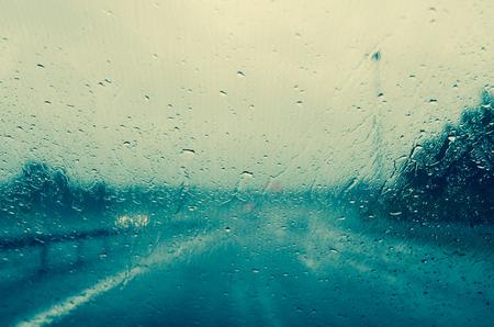 windscreen: rainy weather through windscreen window