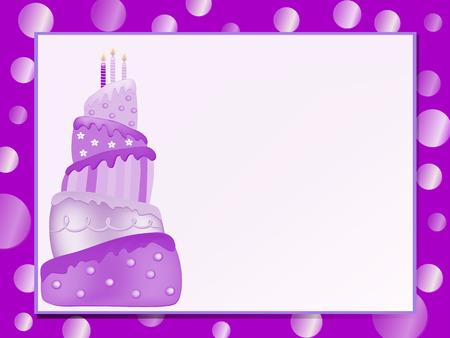 pastel feliz cumplea�os: rosa pastel de cumplea�os feliz ilustraci�n