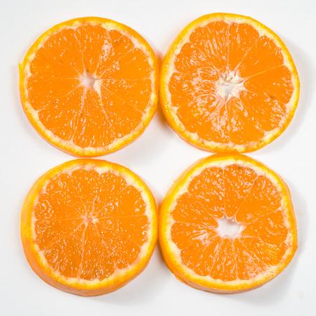 filtered: detalle de la imagen rodajas de naranja efecto filtra retro Foto de archivo