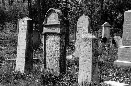 jewish: old jewish cementery with tombs