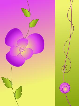 violet flower: violet flower greeting card vector