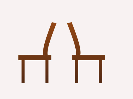 distinct: brown chairs at the back vector illustration
