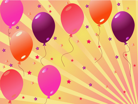 baloons: colorful party baloons vector ilustration