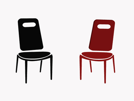 opposite chairs on white background Vector
