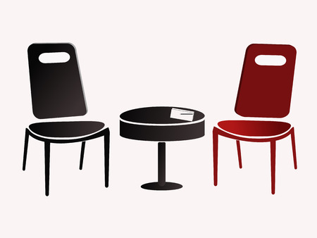 opposite chairs on white background 版權商用圖片 - 37623067