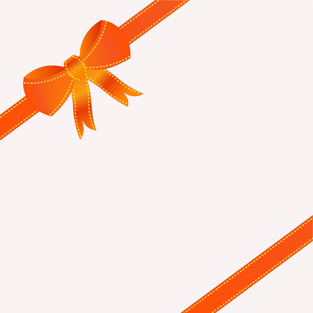compliment: orange ribbon on white background illustration