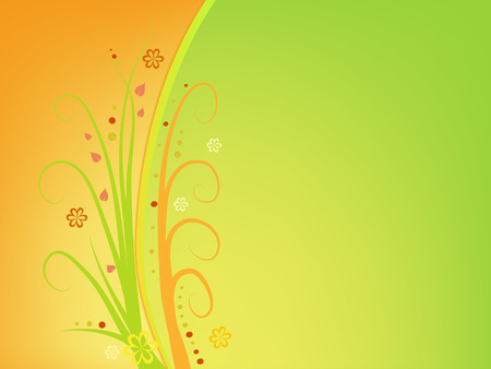 swirl: colorful swirl on brown background Illustration