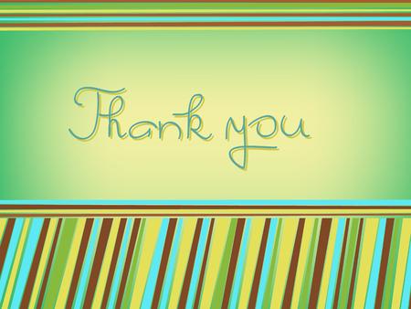 thank you card: orange green  thank you card illustration