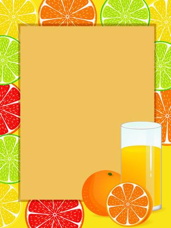 orange refreshing drink illustration image