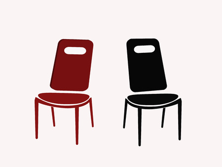 two chairs: two chairs isolated on white background