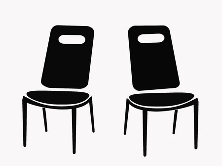 two chairs isolated on white background Vector