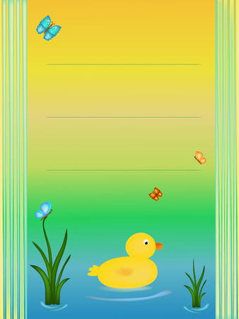 baby shower yellow: baby shower background with yellow duck