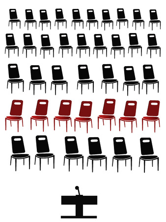 boycott: group of black chairs isolated