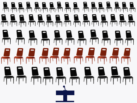 standout: group of black chairs isolated