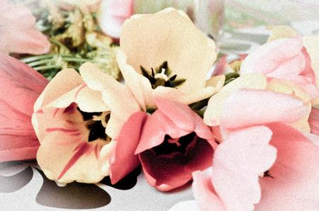 filtered: tulipanes efecto filtrada