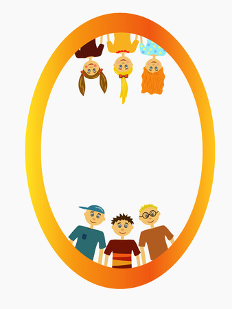 child of school age: group of children illustration background