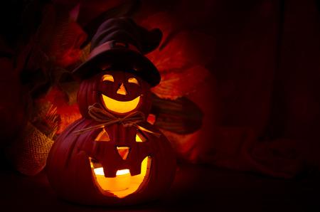 illuminated: illuminated spooky halloween pumpkin