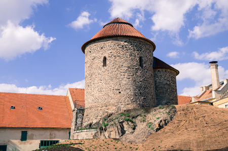 znojmo: ancient tower in the city znojmo Stock Photo
