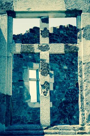 filtered: efecto de piedra s�mbolo de la cruz filtrada