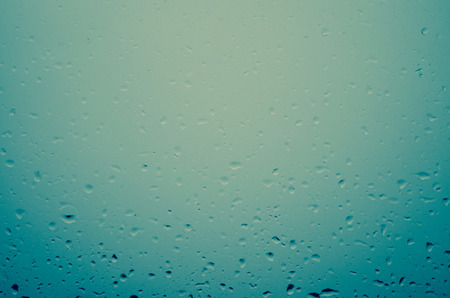 waterdrops: window glass covered by waterdrops