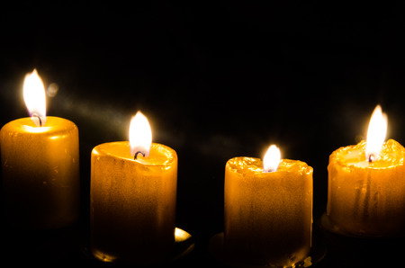 four burning advent candles decoration