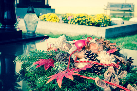 all saints day: all saints day in the cementery