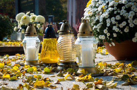 all saints day: all saints day in the cemetery
