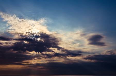 colorful cloudscape: colorful sunset with dramatic cloudscape Stock Photo