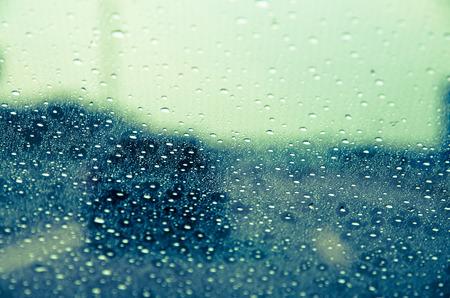 windscreen: car behind rainy windscreen image Stock Photo