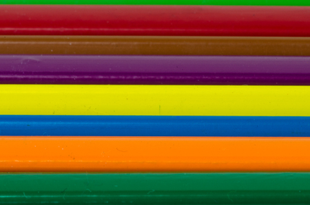 normal school: detail of colorful pencils in a row Stock Photo