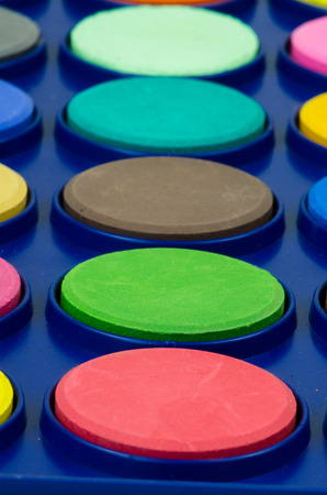 normal school: new water-colour supply background Stock Photo