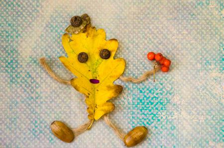 beech leaf: dancing yellow beech leaf concept
