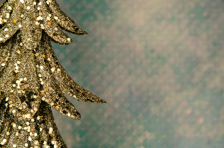 gold tree: gold christmas tree detail decoration