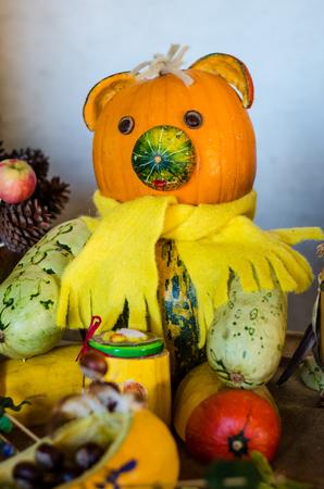 humor: teddy bear halloween pumpkin craft