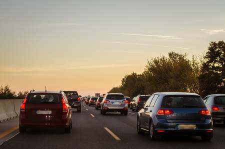traffic jam on the road