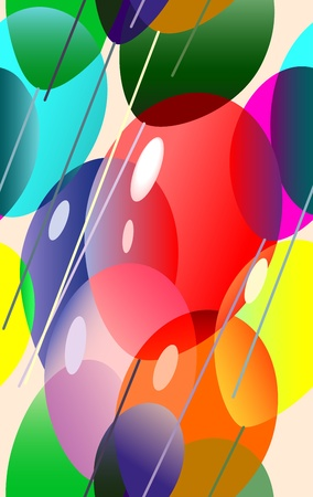 Vector illustration of a many colorful balloons flying Vector