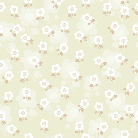 Vector illustration of a seamless texture with flowers