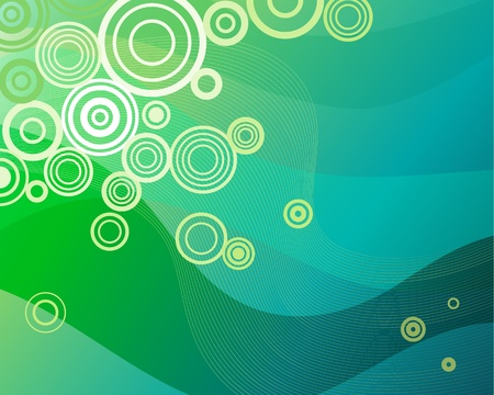 Vector illustration of a background pattern in green
