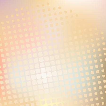Vector illustration of a yellow halftone pattern