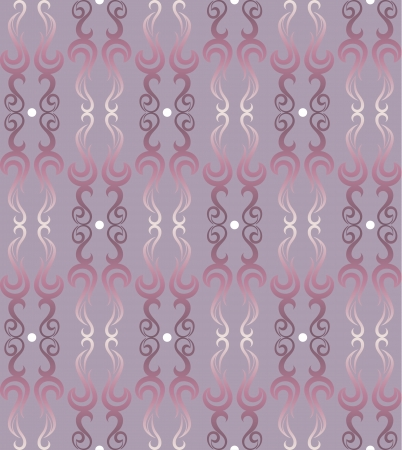 Vector illustration  of a seamless pattern in purple and pink