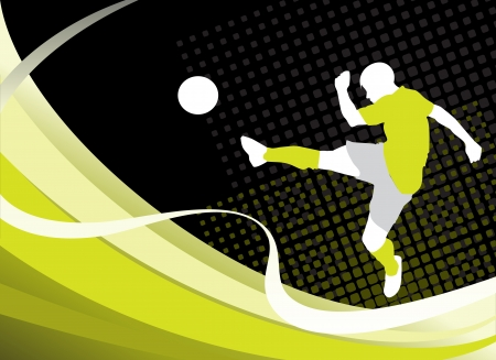 illustration  of a soccer  player  silhouette Illustration