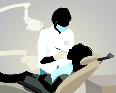 appointments: Vector illustration of a dentist appointment